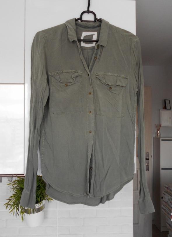 HM koszula khaki lyocell oversize...