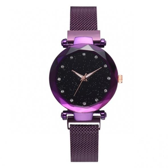 Luksusowy zegarek damski z magnetycznym paskiem