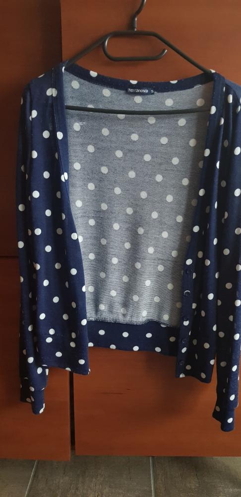Rozpinany Sweter w kropki