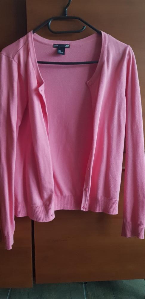 Rozpinany Różowy Sweter
