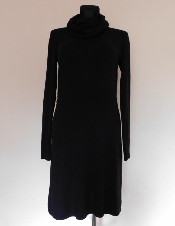 Ichi czarna dzianina sukienka midi 40...