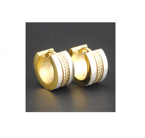 Nowe kolczyki okrągle huggies złoty srebrny kolor