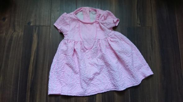 różowa elegancka sukienka 74 cm
