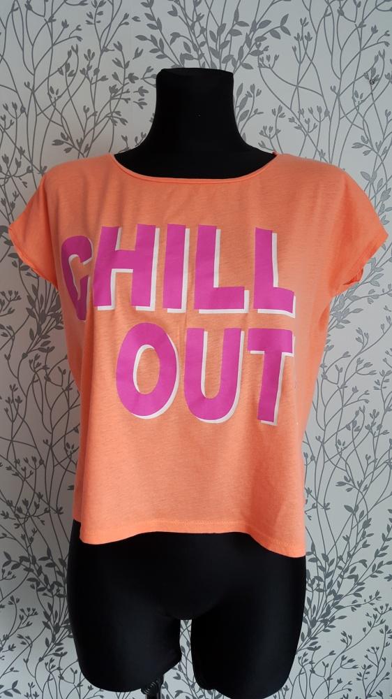 Neonowy tshirt damski Gina Tricot S