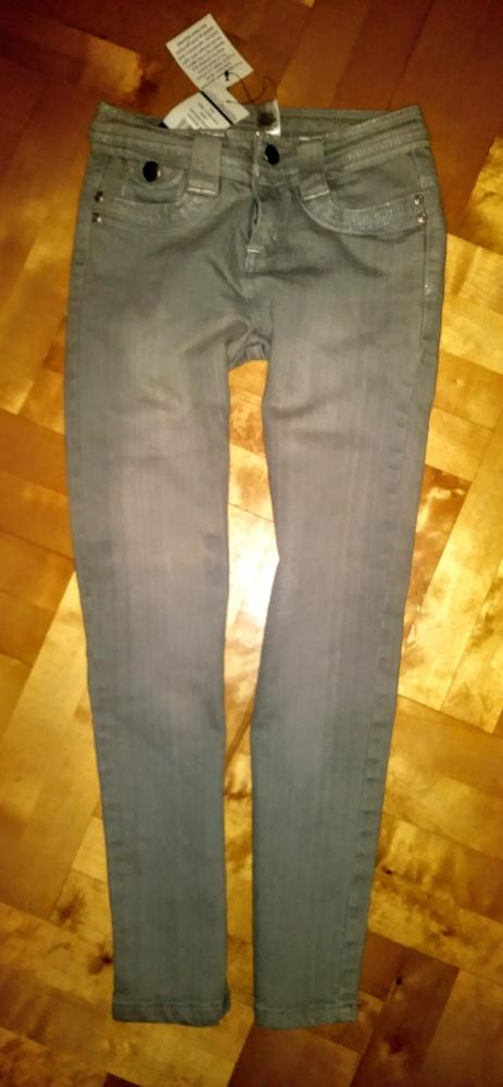 Szare siwe spodnie rurki jeans 9 lat Ethelaustin