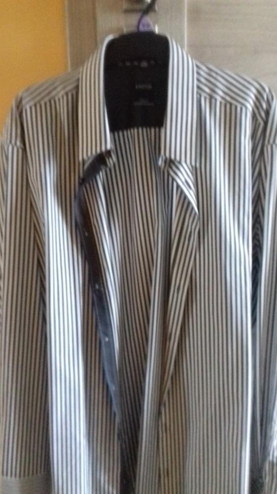 koszula kastor w paski brązowe 44