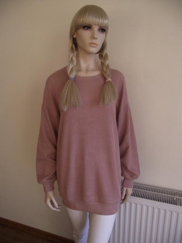 Nowa bluza damska oversize w kolorze brudnego różu Bershka M L
