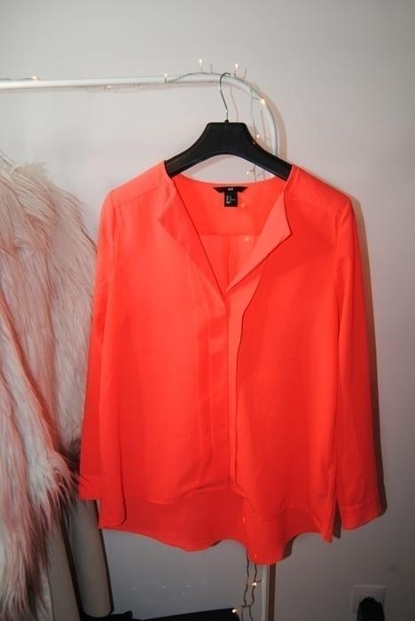 Neonowa koszula H&M