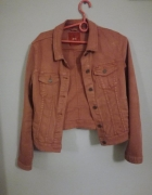 Żakiet kurtka dżinsowa jeansowa kolor brzoskwinia...