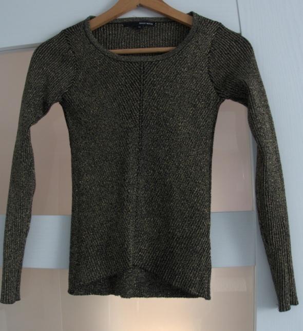 nowy sweter złoty czarny krótki obcisły tally weijl 34