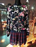 zara kurtka bomberka modny wzór kwiaty floral blog hit 36...