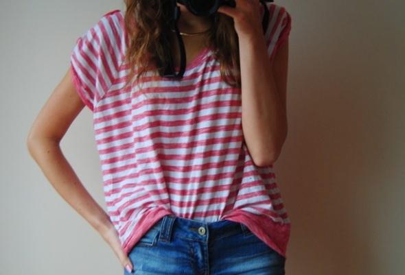 koszulka oversize paski S M L