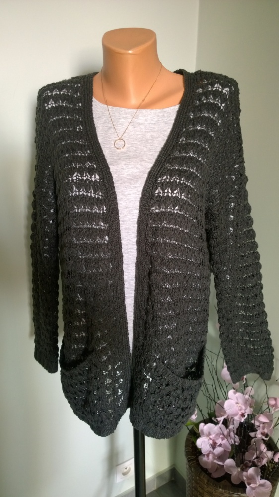 sweter kardigan oversize