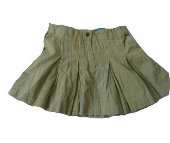 Spodniczka H M pastelowy zielony i niebieski 140