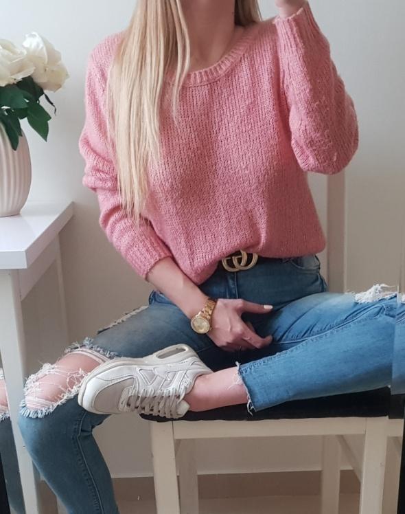 H&M sweter różowy M