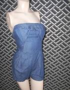 Kombinezon z miękkiego jeansu...