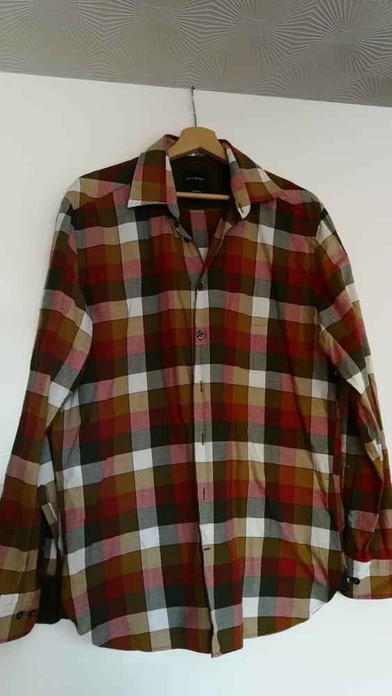 Koszula męska w kratkę rozm L 41 42