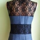 Sukienka ołówkowa jeansowa koronkowa Rare 38