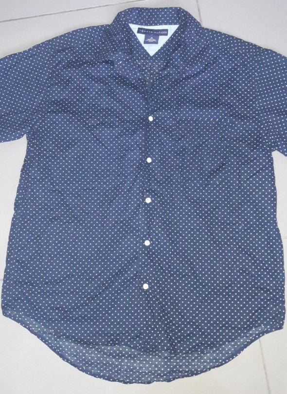 Granatowa Koszula groszki Tommy Hilfiger M