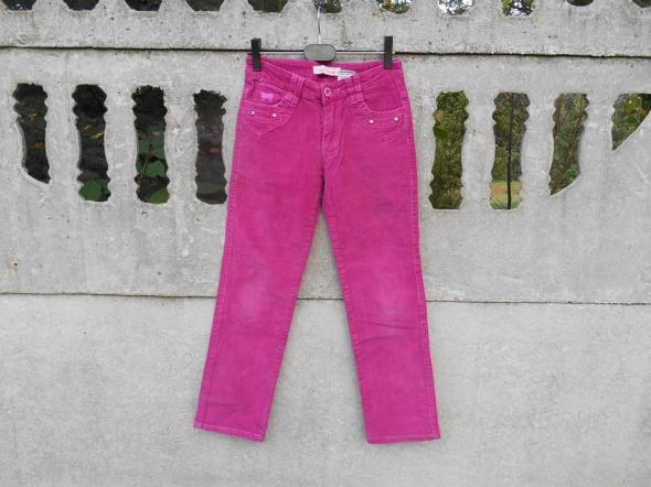 Spodnie 140 na 10 lat Wiśniowe sztruks
