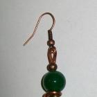 Kolczyki z kamieniami handmade