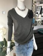 sweterek aplikacja szary grey 34 36 promod...