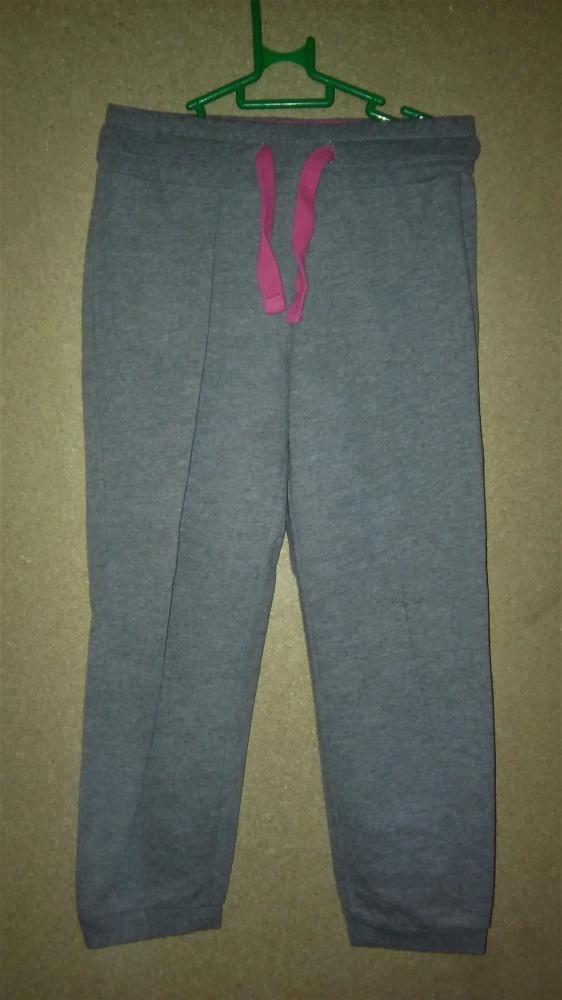 Szare dziewczęce dresy ściągacze 110 116 cm 4 5 lat