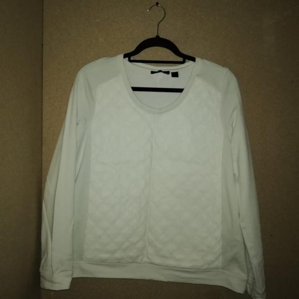 Biała bluza pikowany przód eko skóra 42 44