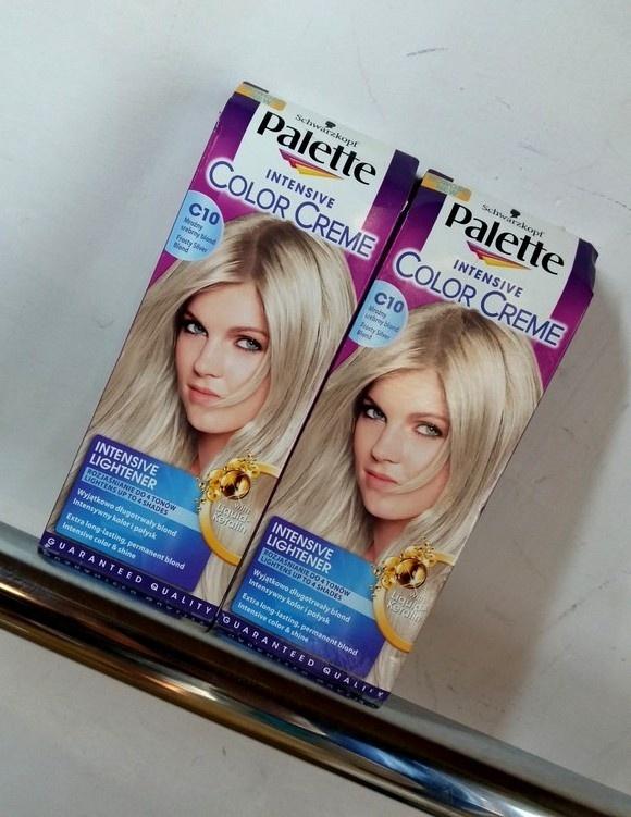 farba do włosów rozjaśniacz Palette mroźny srebrny blond 2 szt 15
