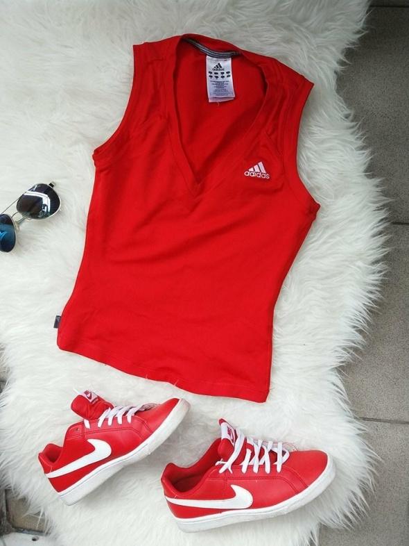 bluzka top Adidas czerowna r Xs S...