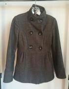 płaszcz zimowy rozkloszowany brazowy kurtka zmowa bosmanka r S...