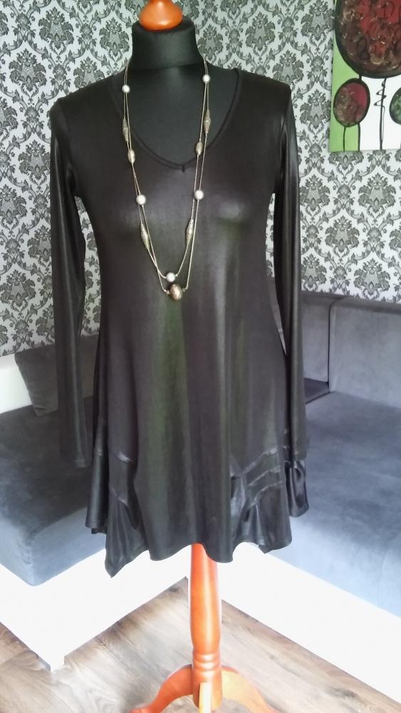 Czarna asymetryczna sukienka S M