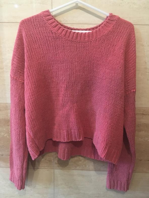 Swetry Malinowy sweter 36 S