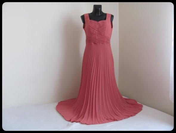 Sukienka matki pana młodego L 40 plisowana maxi z marynarką