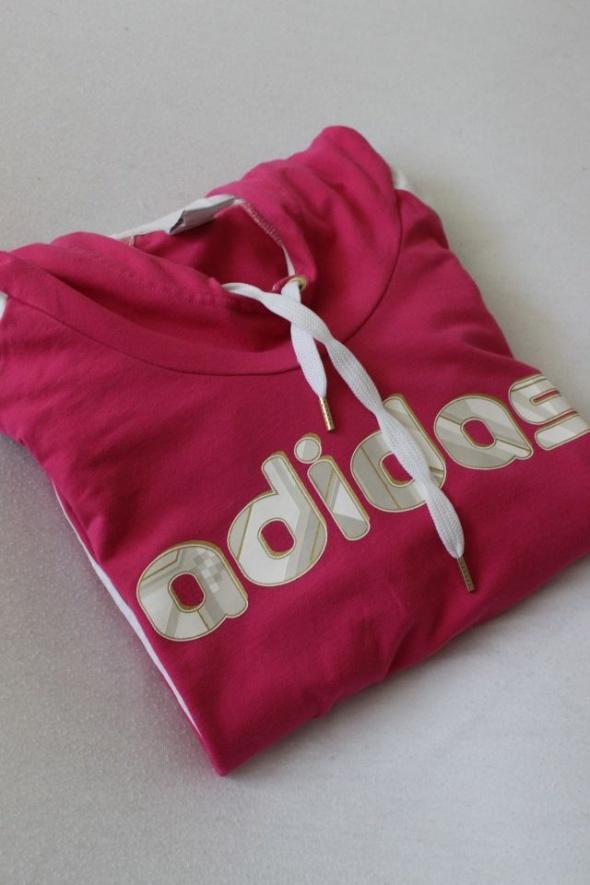 różowa bluza bawełniana adidas L