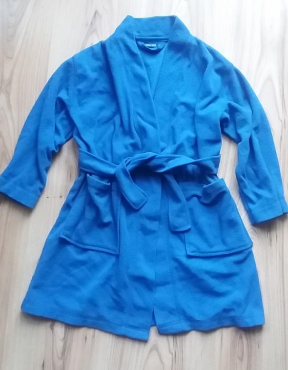 CHEROKEE niebieski polarowy szlafrok dziecięcy 110