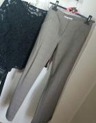 spodnie beżowe eleganckie biodrówki rurki Tally weijl r S...