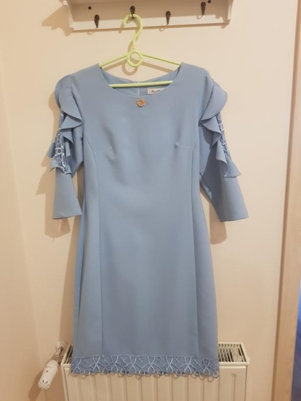 Sukienka komunia wesele błękitna...