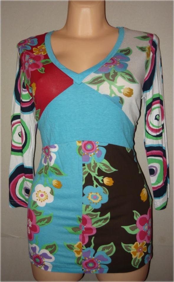 John Baner Jeanswear bluzka kwiaty kolor wiosna 42 44