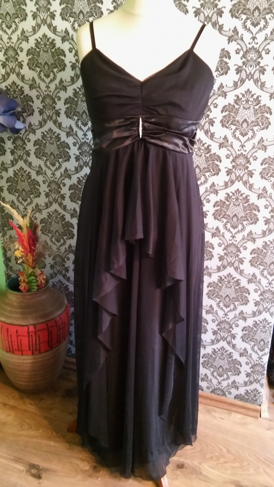 Czarna długa sukienka roz 40