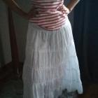 Długa biała spódnica maxi letnia rozmiar uniwersalny