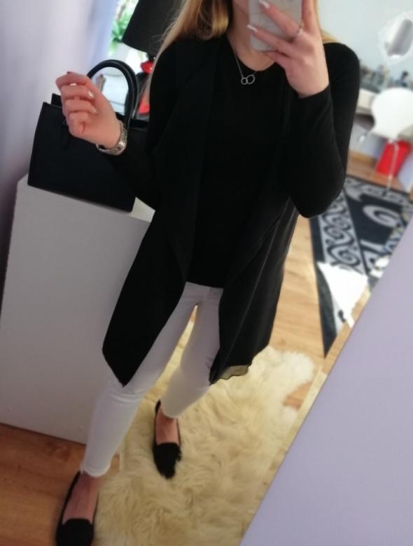 Czarna long kamizelka New Look