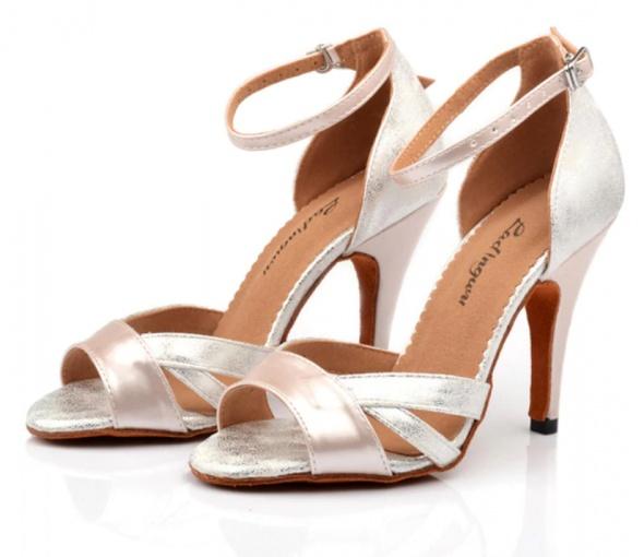 buty do tańca srebrno ecru 38