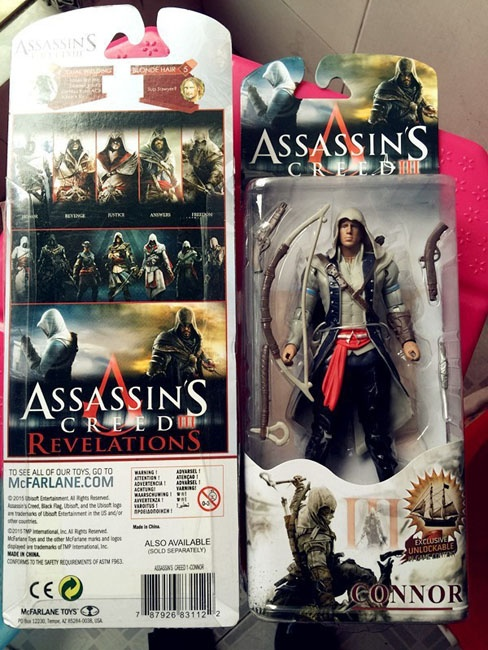 Zabawki FIGURKA FIGURKI CONNOR Assassins Creed PVC TANIO