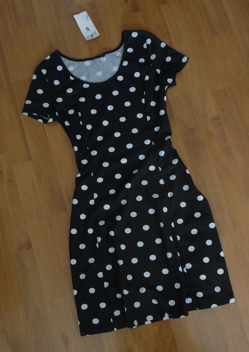 nowa sukienka w grochy S...