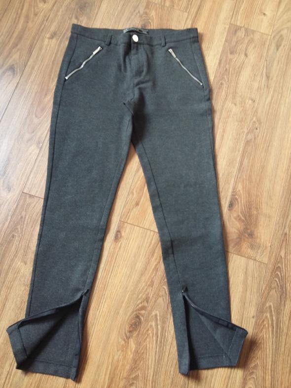 Spodnie Spodnie Zara szary melanż