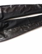 Spodnie rurki czarne skórzane 34 xs...
