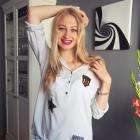 Szara koszula z naszywkami Nowa