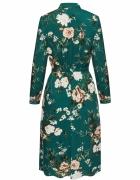 Sukienka taranko zielona kwiaty