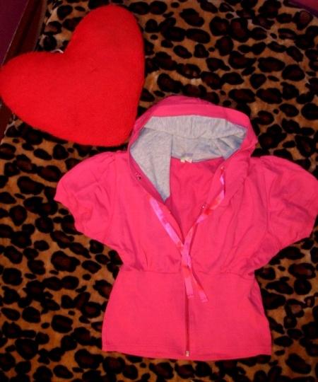 Bluzy Dresowa różowa narzutka